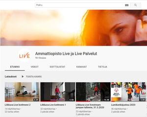 Liven youtube sivu