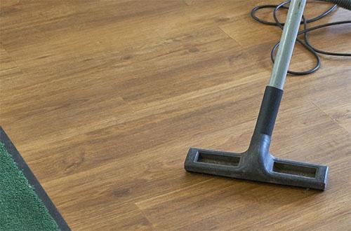 Imuri nojaa lattiaa vasten.